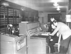 I. Pottosin at the M-20 computer console. 1962